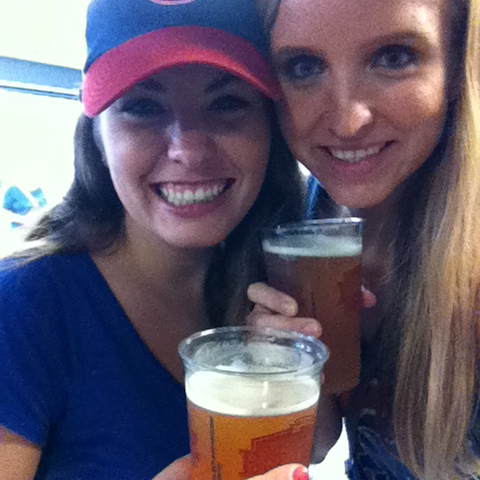 Cubs game with the birthday girl. Not even a rain delay could stop us (and it was a tsunami!)