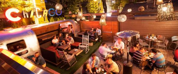 Homeslice Wheelhouse patio - my new favorite happy hour spot. I didn't take my own pic because the travel channel was filming there!