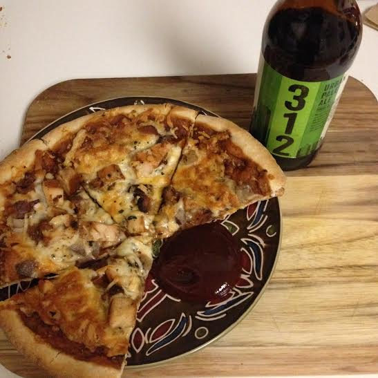 Best thing I ate all week: Trader Joe's bbq chicken pizza, extra bbq sauce on the side